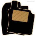 To Fit Fiat Qubo (2008+) Tailored Car Floor Mats Black (X)