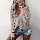 Damen Cardigan Strickjacke Wollpullover Strickpulli Sweater Strickpullover Tops