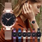 Luxury Women Starry Sky Watch Quartz Stainless Buckle Crystal Analog Watches S9 image