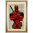 Animation Newspaper Deadpool Canvas Wall Art Oil Painting Poster Home Decor