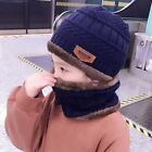 Winter Hat Scarf Children Warm Beanies Knitted Kids Caps For Girls And Boys 2pcs