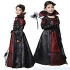 Halloween Costume Royal Vampire Child Girls Princess Fancy Party Cosplay Dress