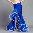 New Performance belly dance Costume Waves Skirt Dress Fishtail Skirt Carnival