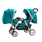 Baby Stroller Twin Lightweight Stroller Travel Double pushchair with Second Seat