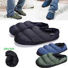 Mens Non slip Winter Warm Bedroom Indoor Slipper Sandals Fur Lining Shoes