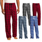 Внешний вид - Mens Flannel Plaid Checkered Pajamas PJ Casual Sleep Lounge Pants 100% Cotton