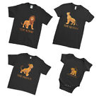 Lion King Queen Princess Mother's Day Characters Matching Family Couple T-Shirt