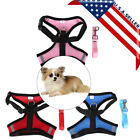 Leash Small Pet Control Harness Dog Cat Soft Mesh Walk Collar Safety Strap Vest