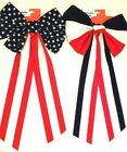 "Внешний вид - Bows Patriotic US Flag Patterns Stars Stripes Red White Blue Decor 12"" x 24"" New"