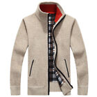 Herren Winterjacke Strickjacke Strickpullover Cardigan Fleecejacke Outdoorjacke