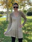 Pete and Greta by Johnny Was Antique Biege Oversized Linen Tunic Dress PG1224