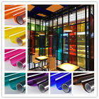 Transparent Window Film Color Solar Tint Self Adhesive Stain Glass Decor Vinyl