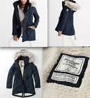 NWT Abercrombie & Fitch Womens Sherpa Lined Military Parka $200
