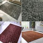 SMALL - LARGE RICH CRUSHED VELVET EFFECT SOFT FEEL BARADA DAMASCUS DAMASK RUGS
