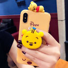 Cute Disney Doll Stand Holder Soft Case Cover for iPhone XS Max XR X 6S 7 8 Plus