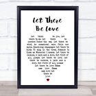 Let There Be Love Nat King Cole Heart Song Lyric Quote Print