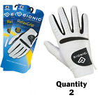 2 x Bionic Mens RelaxGrip Golf Gloves Right Hand-Cool/Dry/Leather Palm $23.50 ea
