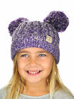 New! C.C Kids' Children's Cable Knit Double Ear Pom Cuffed CC Beanie Cap Hat