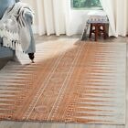 Ivory / Orange Safavieh Power Loomed Evoke Area Rugs - EVK226S