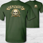 Art painter crossbones t-shirt canvas body artist painting skull badge tee shirt