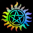 2pcs Supernatural Anti-possession Pentagram Car Window Sticker Vinyl Decal