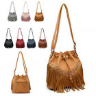Ladies Fringe Cross Body Bag Tassel Messenger Bag Dolly Shoulder Handbag MZ-9314