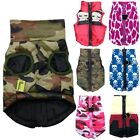US Waterproof Dog Coat Winter Puppy Clothes Camo Skull Pattern Jacket Apparel