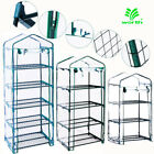 3-5 Tier Shelves Mini Greenhouse Warm Clear PVC Cover Outdoor Zipper Roll Up