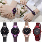 Elegant Women Ladies Crystal Starry Sky Watch Magnetic Strap Watches Gift New BP image