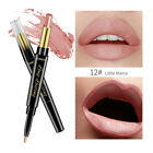 Women Beauty Smooth Lip Liner Pencil Matte Nude Double Ended Lipstick Pen