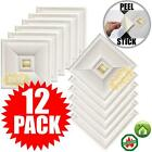 """Peel and Stick Ceiling Tiles 12 Pieces 12""""x12"""" Easy Installation Textured Panels"""