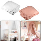Cotton Canopy Bed Cover Mosquito Bedding Net Dome Tent Pink/White for Baby Kid image