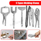 5 Types Welding Clamp Fast Quick Release Fastener C Clamps Grips Pliers