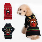 Внешний вид - Christmas Dog Puppy Cat Red Nose Reindeer Ugly Sweater Pet Clothes Outfit Xmas