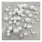 WHITE or CREAM ACRYLIC PEARL BEADS  3mm - 10mm *6 SIZES* BEADING WEDDING CRAFTS