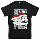 Star Wars Christmas T-Shirt Stormtrooper Droids Festive Gift Adults Kids Tee Top $18.34 USD on eBay