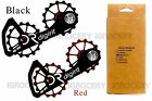 DIGIRIT oversized Red/Black Pulley 16/16T Wheel SH-105 System (Shimano 105)