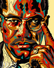 Malcolm X Abstract Poster or Art Print