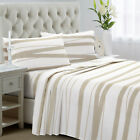 3-Piece Bed Sheet Set Twin Full Brushed Microfiber 1800 Bedding Grey Zigzag image