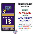 Baltimore Ravens A18 Personalized Football Phone Case Cover fits Samsung etc