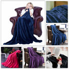 Soft Micro Plush Solid Color Warm Fleece Blanket Throw Rug Sofa Bedding 100*140 image