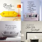 Family Home House Wall Decals Word Vinyl Removable Sticker Verse Quote Art Decor