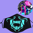Внешний вид - K/DA Kda Akali Assassin S8 Face Mask LOL League of Legends Night Lights Mask