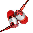 Universal 3.5mm In-Ear Stereo Earbuds Headset 1.2m Braided Cable Mic Headphone