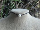 Pearl Choker w-Gift Bag  Single Freshwater Pearl and Leather Choker Necklace