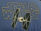 NEW Star Wars logo T-Shirt Darth Vader Tie Fighter blue short sleeve M L XL 2XL $11.0 USD on eBay