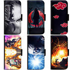 PIN-1 Anime Naruto Collection Phone Wallet Flip Case Cover for Samsung