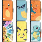 PIN-1 Game Pokemon 5 Phone Wallet Flip Case Cover for Samsung