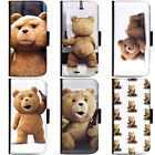 PIN-1 Movie Ted Collection Phone Wallet Flip Case Cover for Samsung