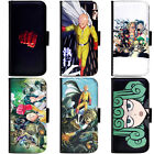 PIN-1 Anime One-Punch Man Phone Wallet Flip Case Cover for LG Motorola